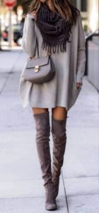 Over-the-knee street style