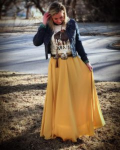 como usar una falda larga