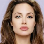 Perfect eyebrows on Angelina's square face