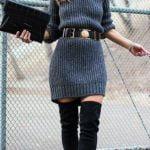 Sweaterdress con cinturón