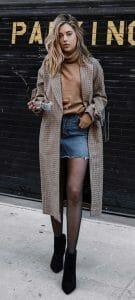 estilo rockero con falda de jean