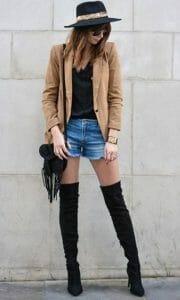 estilo rockero con blazer