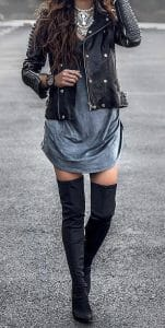 estilo rockero con vestido