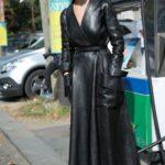 Vestido bata de cuero