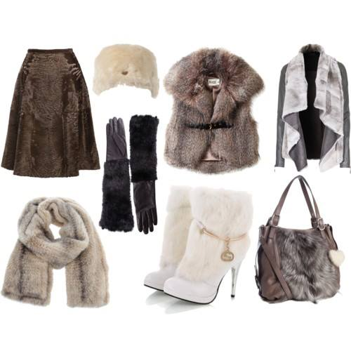 prendas de piel para vestir en invierno